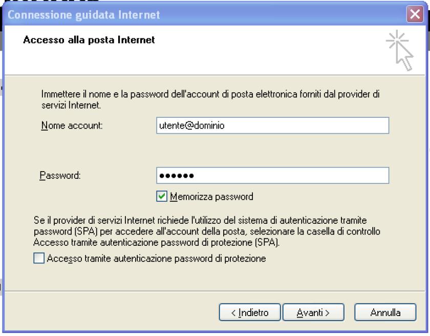 come configurare la posta elettronica pec su outlook express step 6