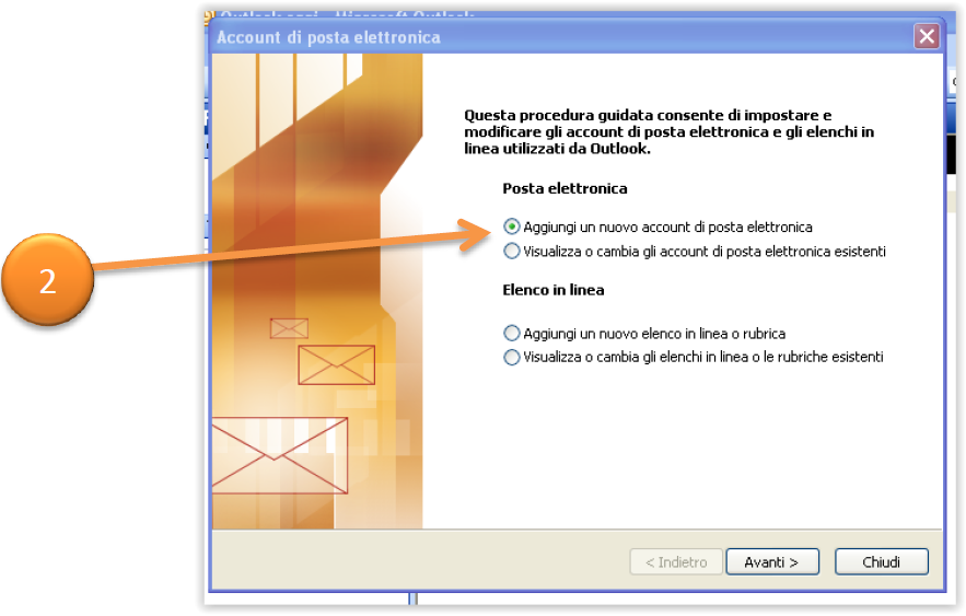 come configurare la posta elettronica pec su outlook 2003