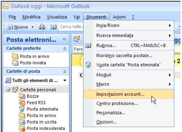 Come configurare la posta elettronica pec su Outlook 2007