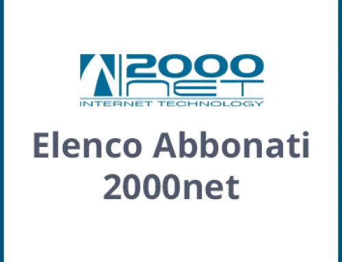 Elenco abbonati 2000NET