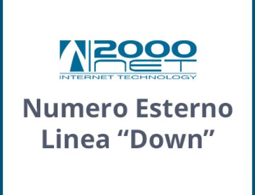 """Numero esterno linea """"Down"""""""