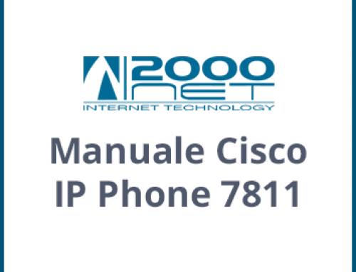 Manuale Telefono Cisco IP Phone 7811