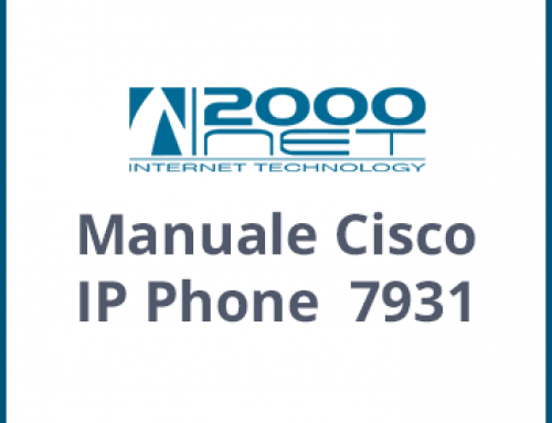 Manuale Telefono Cisco IP Phone 7931